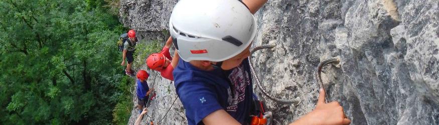 Klettersteig und Hochseilpark