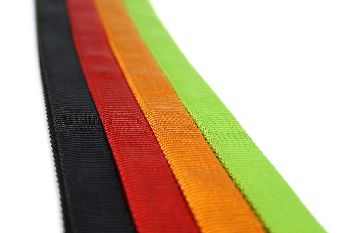 Tubular 19mm col Black, Red, Orange, Green